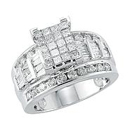 10Kt White Gold Genuine 2.00 Cttw. Diamond Bridal Ring at Kmart.com