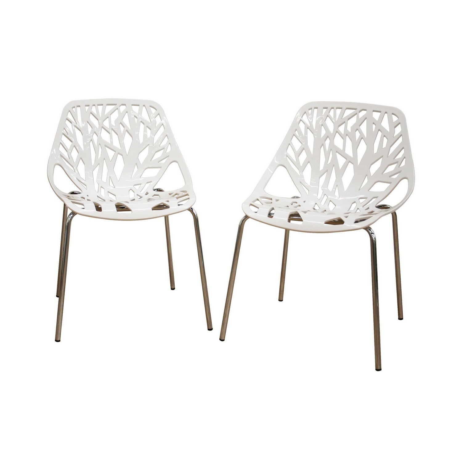 Birch Sapling White Plastic Accent / Dining