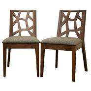 Baxton Jenifer Modern Rubberwood Dining Chair (Set of 2), Medium Brown at Kmart.com