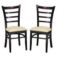 Baxton Lily Dark Brown Modern Microfiber Dining Chair (Set of 2) at Kmart.com