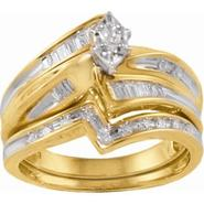 1/3 cttw Marquise Diamond Center Bridal Set in 10K Yellow Gold at Sears.com