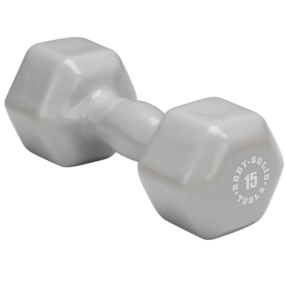 Body Solid  BSTVD15 15 lb. Gray Vinyl
