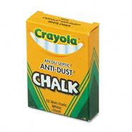 Crayola Nontoxic Anti-Dust Chalk, White, 12 Sticks per Box at Kmart.com
