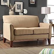 Oxford Creek Collection Peat Microfiber Loveseat at Kmart.com