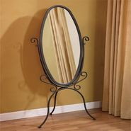 L Powell Garden District Black with Gold Highlights Scroll Cheval Mirror at Kmart.com