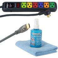 Monster HD STARTER KIT includes 8ft HDMI700 Cable, Screen Clean with Cloth and AV600 Power Strip at Kmart.com