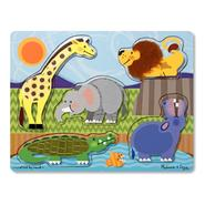 Melissa & Doug Zoo Animals Touch and Feel Puzzle at Sears.com