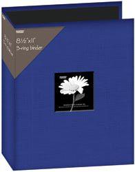 "Pioneer Fabric 3-Ring Binder Album With Window 8.5""X11-Blue PartNumber: 021V001342372000P KsnValue: 1342372 MfgPartNumber: T811CBF-BL"