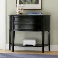 "L Powell ""Antique Black"" with Sand Through Terra Cotta Demilune Console Table at Kmart.com"