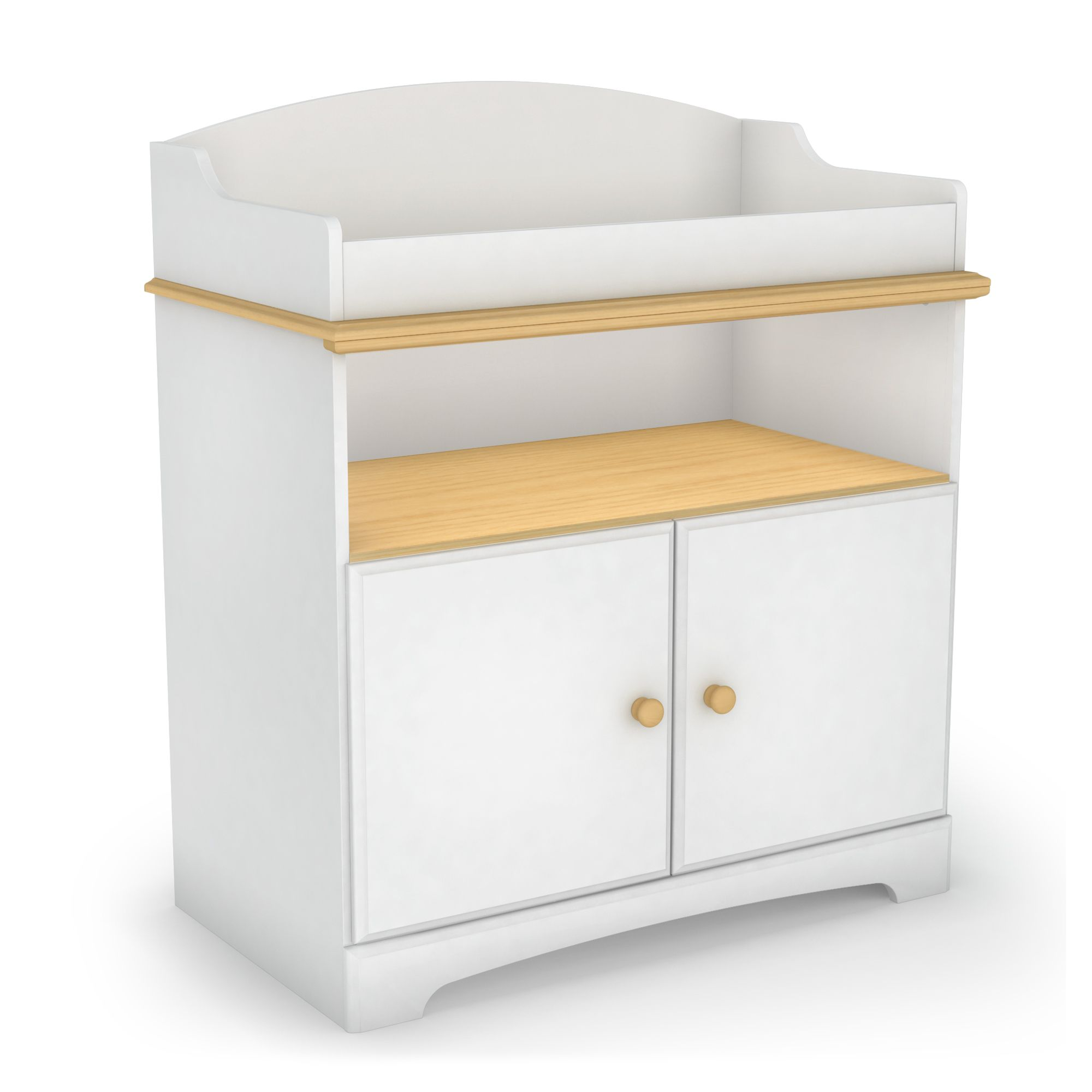 South Shore Summertime Changing Table - Pure White and Maple