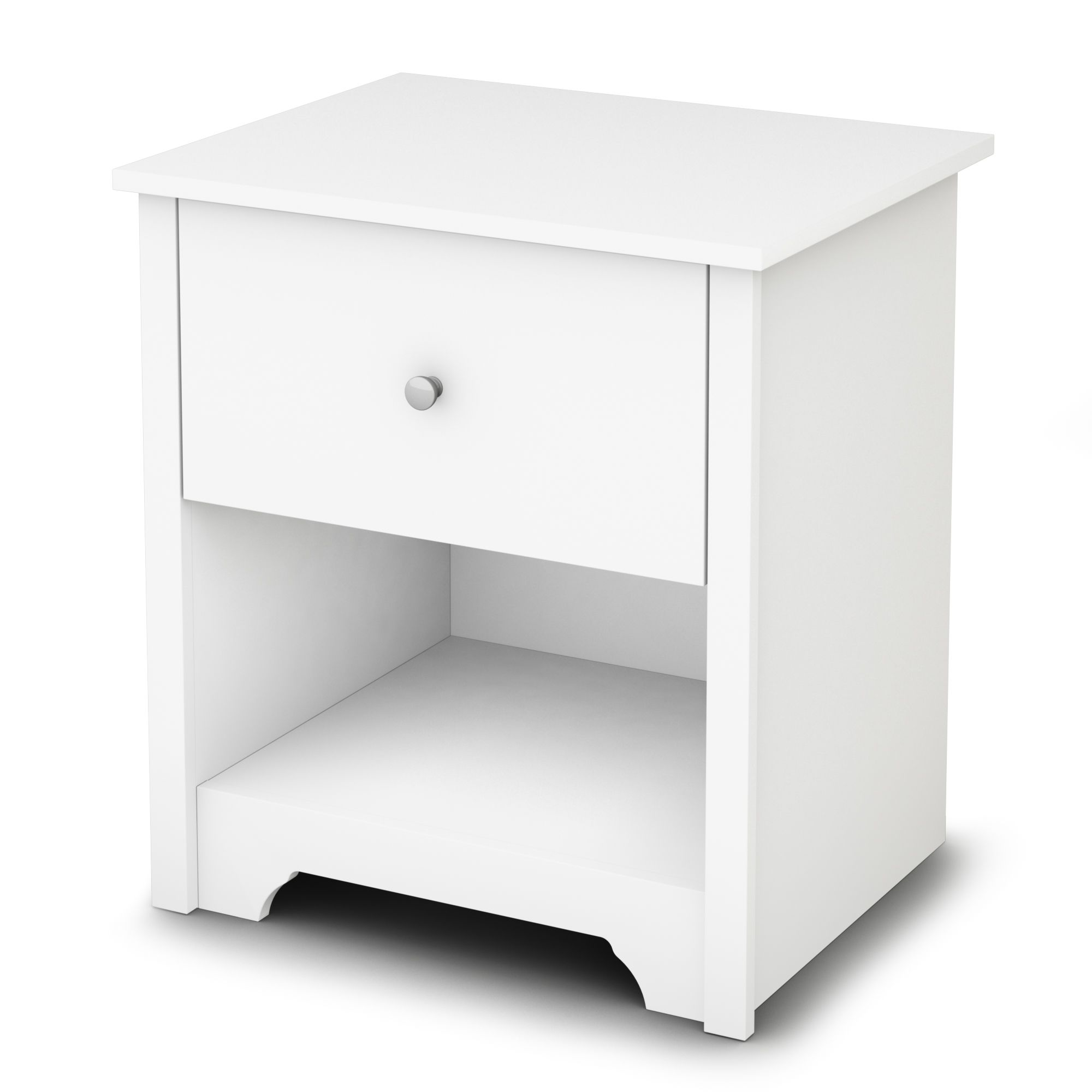 South Shore  Vito Night Stand Pure White