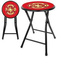 Trademark Fire Fighter 18 Inch Cushioned Folding Stool - Black at Kmart.com