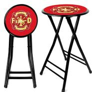 Trademark Fire Fighter 24Inch Cushioned Folding Stool - Black at Kmart.com