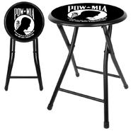 Trademark POW 24Inch Cushioned Folding Stool - Black at Kmart.com