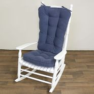 Greendale Home Fashions Jumbo Rocking Chair Cushion - Hyatt fabric -  Denim. at Sears.com