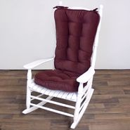 Greendale Home Fashions Jumbo Rocking Chair Cushion - Hyatt fabric -  Burgundy. at Kmart.com