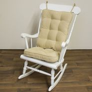 Greendale Home Fashions Standard Rocking Chair Cushion - Hyatt fabric -  Cream. at Kmart.com