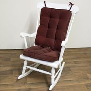 Greendale Home Fashions Standard Rocking Chair Cushion - Hyatt fabric -  Burgundy at Kmart.com