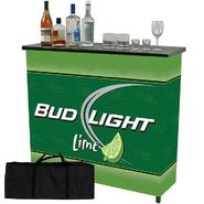 Trademark Bud Light Lime Metal 2 Shelf Portable Bar Table w/ Case at Kmart.com