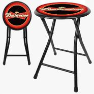Trademark Budweiser 18 Inch Cushioned Folding Stool - Black at Kmart.com