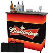 Trademark Budweiser Metal 2 Shelf Portable Bar Table w/ Carrying Case at Kmart.com