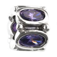 Tradition Charms Sterling Silver Purple Cubic Zirconia Charm at Kmart.com