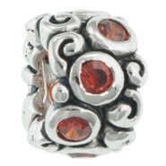 Tradition Charms Sterling Silver Red Cubic Zirconia Charm at Kmart.com