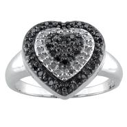 Sterling Silver 1/4cttw Black and White Diamond Ring at Kmart.com