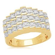 1/2 cttw Diamond Pyramid Ring in 14K Gold over Sterling Silver at Kmart.com