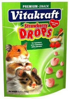 Vitakraft Sunseed Inc. Vit Treat Hamster Strawberry Drops 5.3 oz.