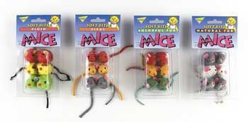 Asp Toy Softbite Fur Mice Small 6 pk.