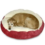 "Happy Hounds Scout Deluxe Round Dog Bed - Medium (36"") - Crimson/Sherpa at Kmart.com"