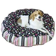 "Happy Hounds Scout Deluxe Round Dog Bed - Extra Small (24"") - Black/Pink at Kmart.com"