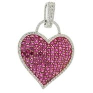 Pretty in Pave™ Lab Created Ruby Heart Pendant at Kmart.com