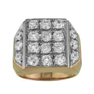 18K Gold Over Sterling Silver Cubic Zirconia Men's Ring at Sears.com