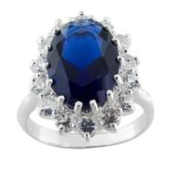 Lab Created Blue And White Sapphire Ring in Sterling Silver at Kmart.com