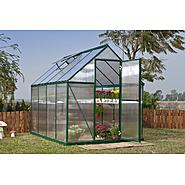 Poly-Tex Nature 6' x 8' Greenhouse - Green Frame - Twin-Wall at Sears.com