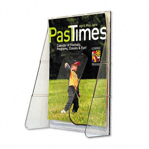 Stand Tall Plastic Pocket Magazine Display Rack