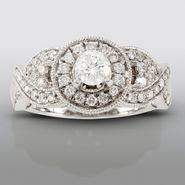 David Tutera 1 cttw Certified Diamond Engagement Ring 14k White Gold at Sears.com