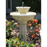 Smart Solar Kensington Gardens Two-Tier Solar on Demand Fountain in Antique White Stone at Sears.com