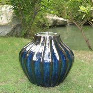 "Smart Garden Prometheus Ceramic Fire Pot 10"" H in Blue Midnight at Sears.com"