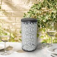 Smart Solar Frosted Fretwork Cylinder Solar Lantern at Sears.com