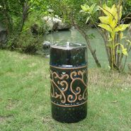"Smart Garden Etruscan Ceramic Fire Pot  9"" H in Blue Midnight at Sears.com"