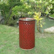 "Smart Garden Apollo Ceramic Fire Pot 13"" H in Red Lava at Sears.com"