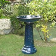 Smart Garden Aviatra Ceramic Birdbath in Blue Midnight at Sears.com