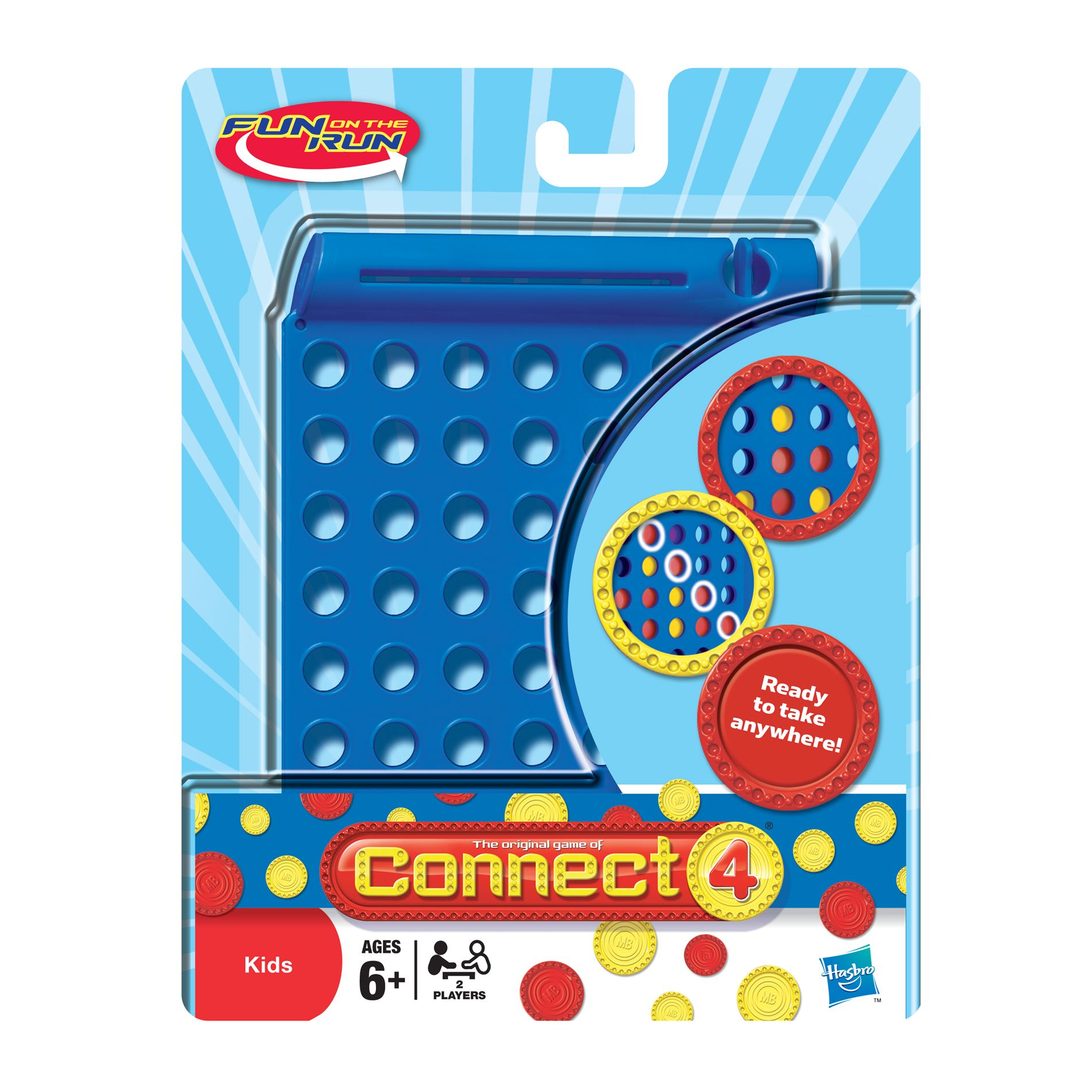 CONNECT 4® FUN ON THE RUN® Game                                                                                        at mygofer.com