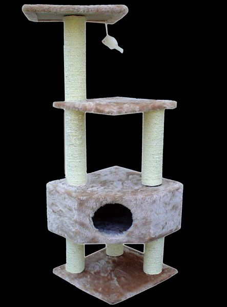 "Majestic Pet 52"" Kitty Cat Tree Furniture House Post Scratcher Condo Scratching Post"