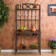 Southern Enterprises Decorative Bakers Rack with Wine Storage at Kmart.com