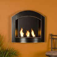 Southern Enterprises Wall Mount Arch Fireplace - Black at Kmart.com
