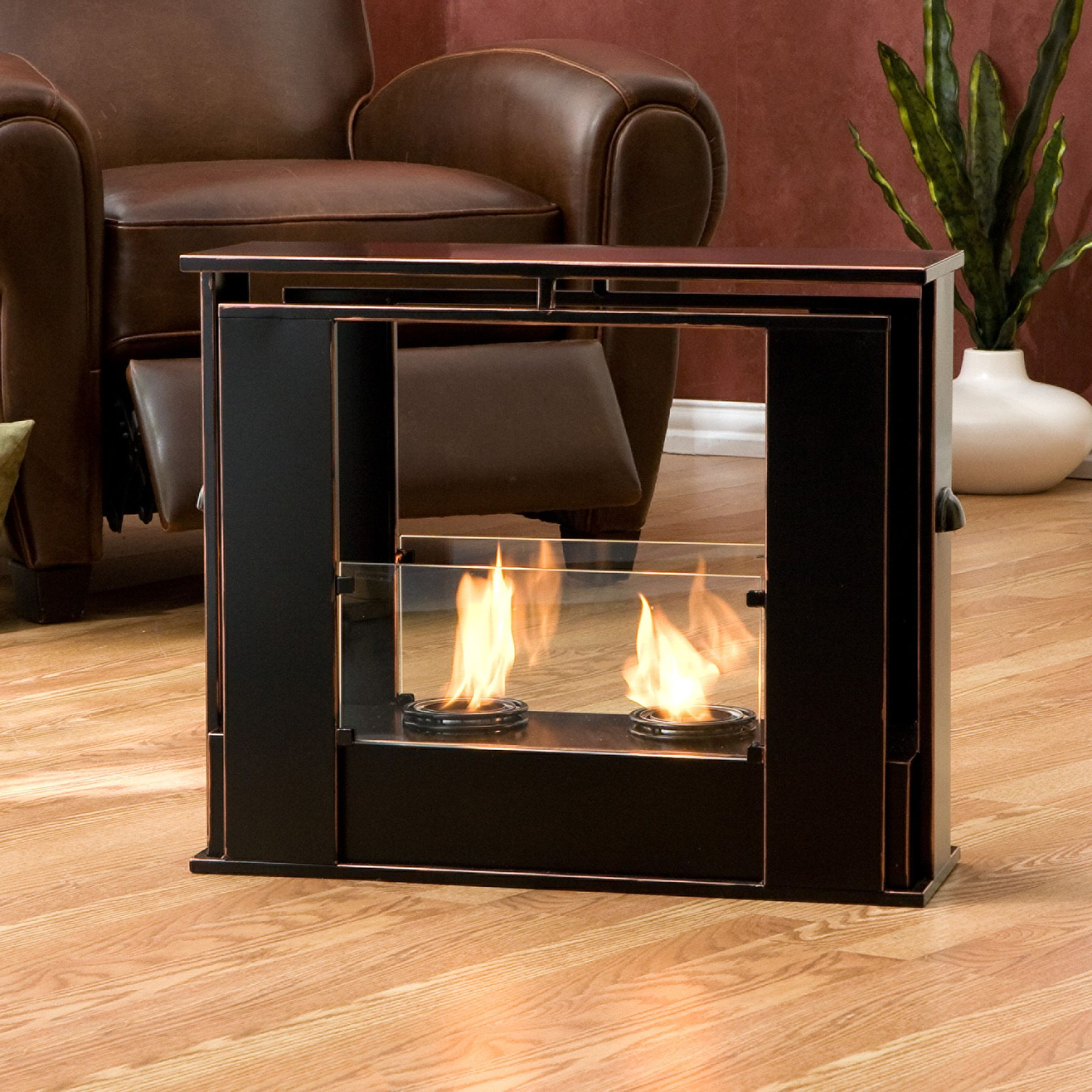 Portable Indoor / Outdoor Gel Fuel Fireplace                                                                                     at mygofer.com